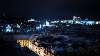 Visite de nuit dans la ville illuminée