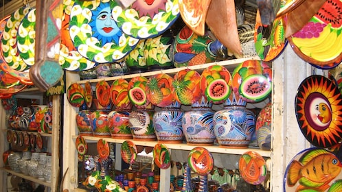 Colorful pottery of Acapulco
