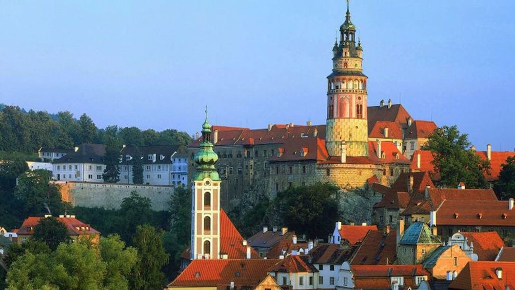 Show item 1 of 10. Krumlov Castle and surrounding city in Cesky Krumlov