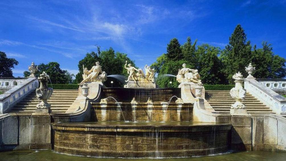 Show item 2 of 10. Fountain in the Castle Gardens in Cesky Krumlov
