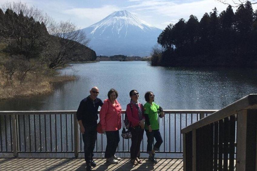 Lake Tanuki in Fujinomiya City