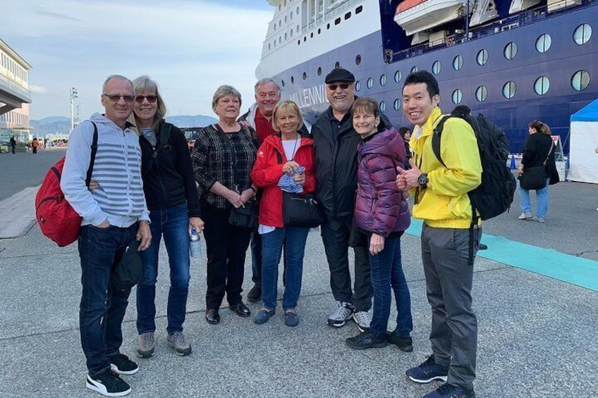Our guide and guests at Shimizu Port