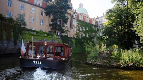 Tour boat on a canal in Prague
