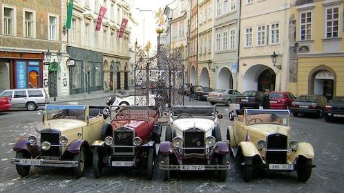 vintage cars in Prague