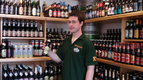 Large beer selection in Prague