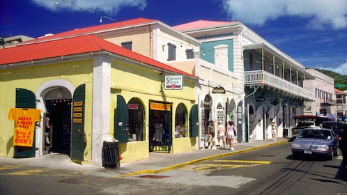 Quaint shops and restaurants in St Lucia