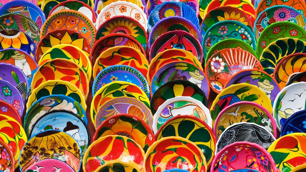 Show item 5 of 10. Colorful pottery for sale in St Lucia