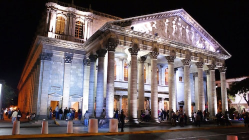 Degollado Theater at night in Guadalajara