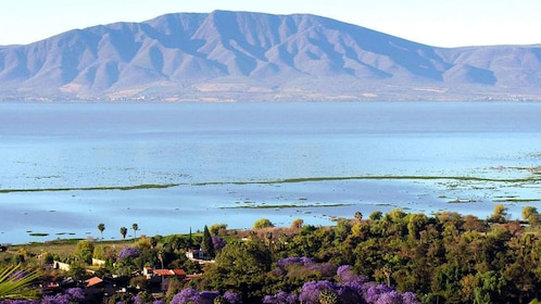 Lake Chapala and mountains in the distance in Guadalajara