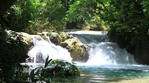 One of the Magic Waterfalls along in Huatulco