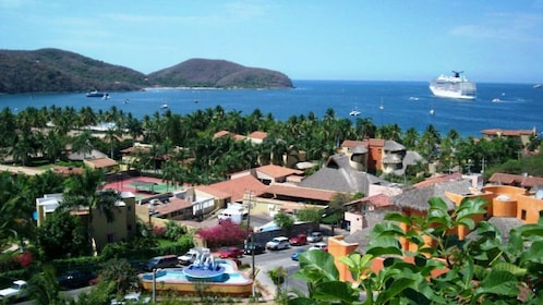 Aerial view of the city of Ixtapa