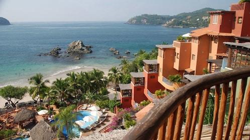 Resort and beach in Ixtapa