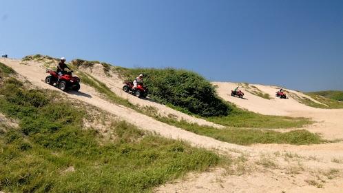 ATV riding group on the dunes in Manzanillo