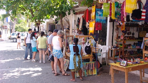 Open air craft market in Barra de Navidad