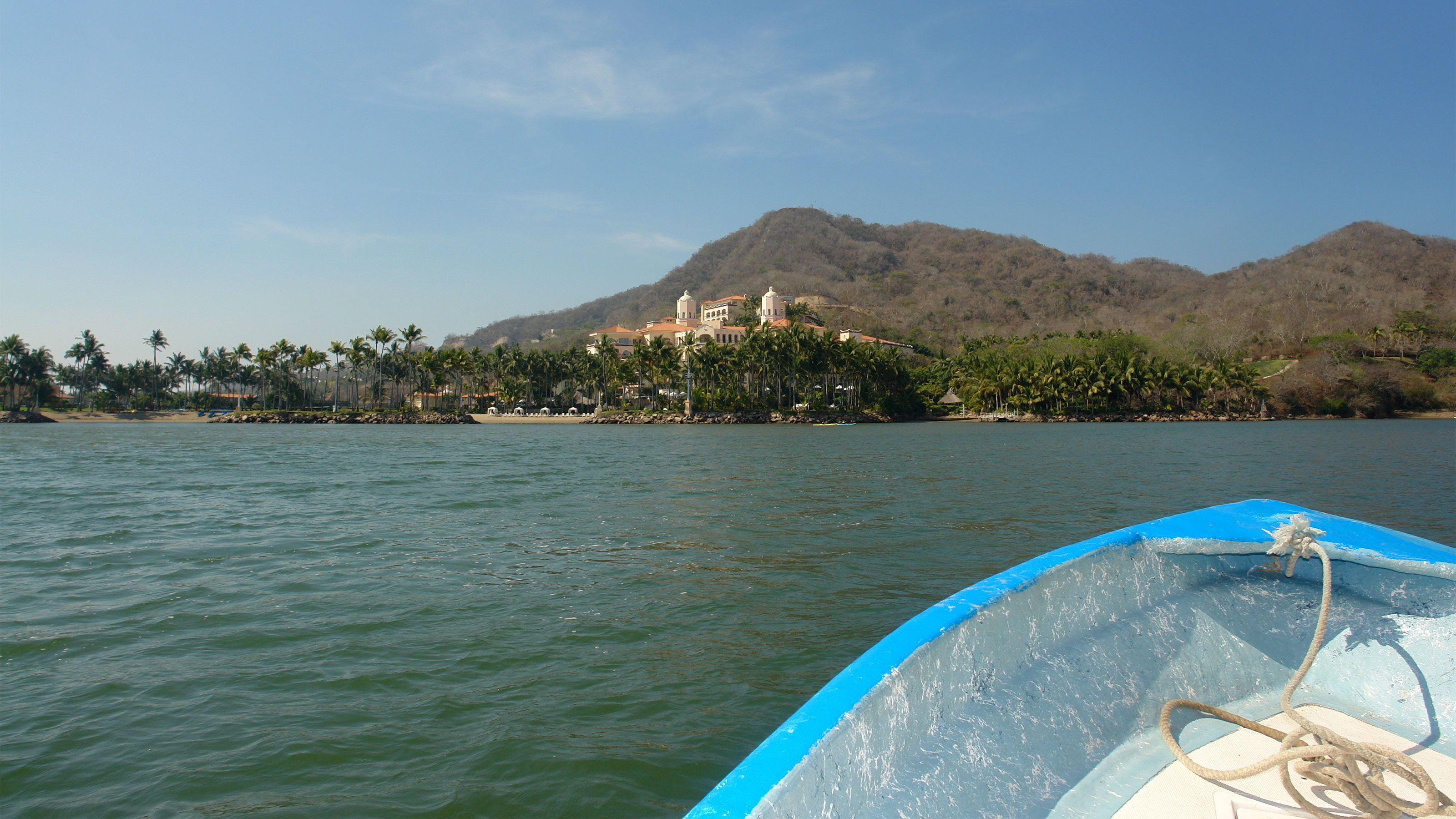 View of Barra de Navidad from the water
