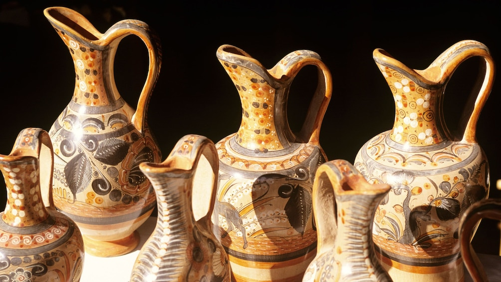 Hand painted vases from an artisan village
