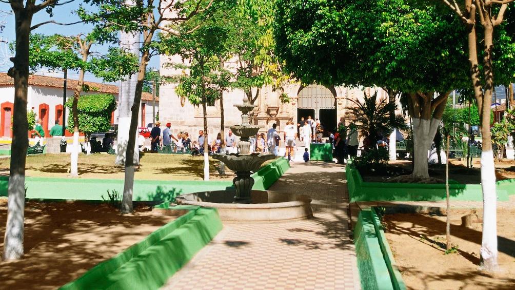 Colorful city square