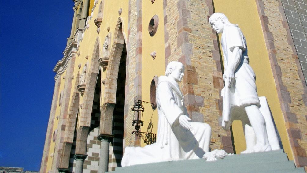Statue outside a church in Mazatlan