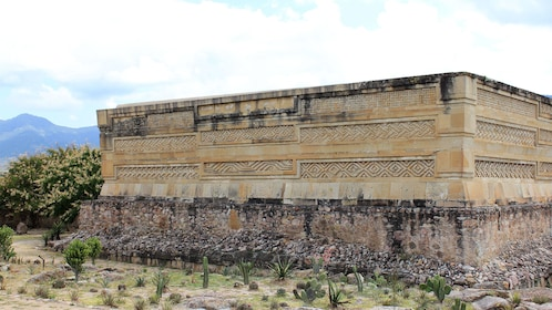 Ruins at the archaeological site of Mitla