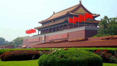 Cured garden in front of Tiananmen Square in Beijing