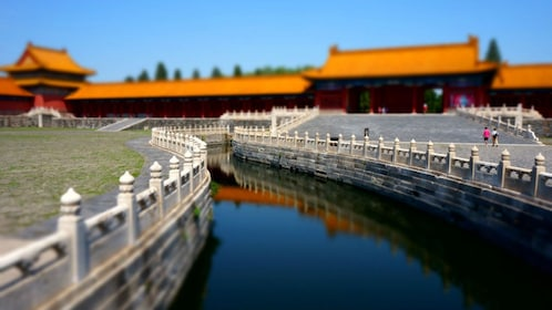 Inside the walls of the Forbidden City in China