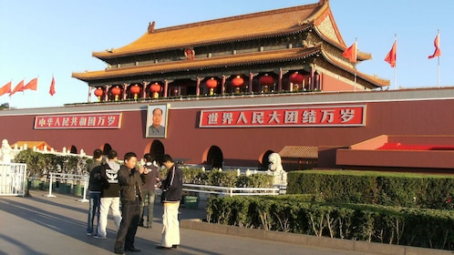 At the entrance of Tiananmen Square in Beijing