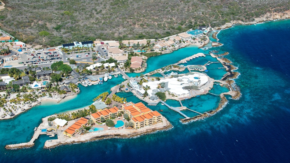 Aerial view of Dolphin Academy Curacao