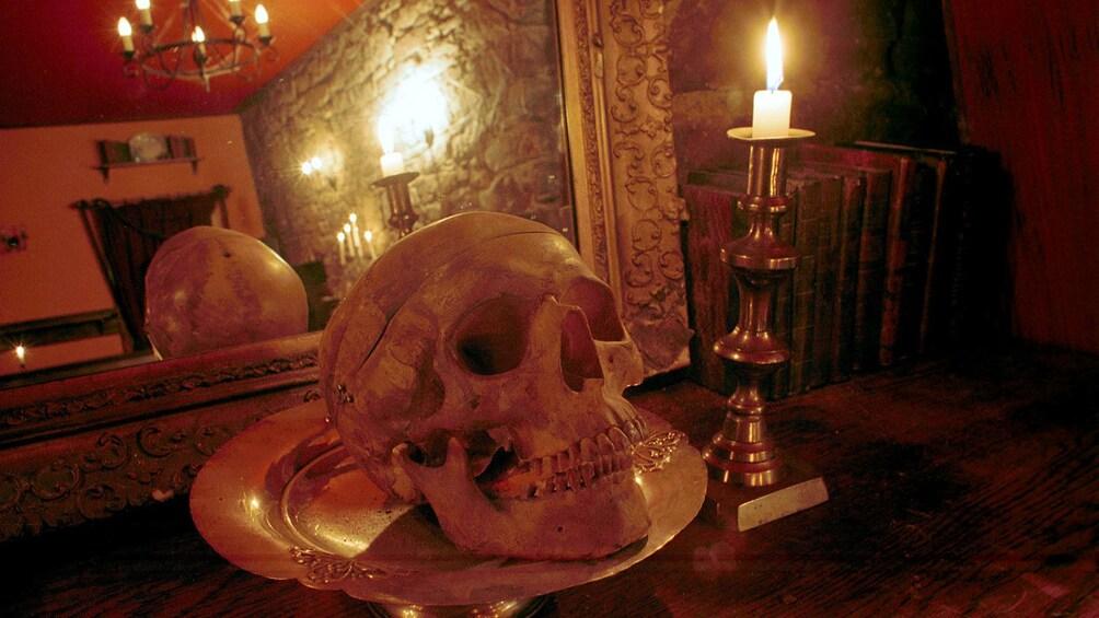 正在顯示第 1 張相片,共 5 張。 skull and candle in edinburgh