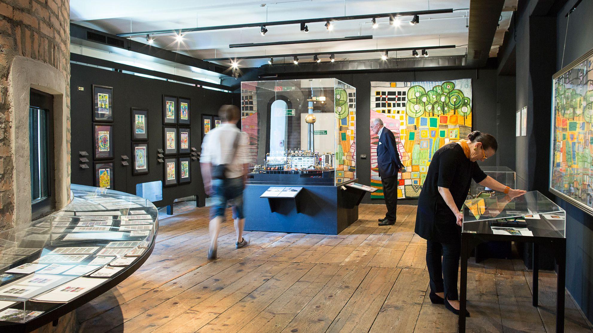 people view artwork in museum