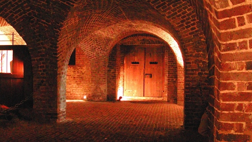 Cellar of a haunted building in Charleston