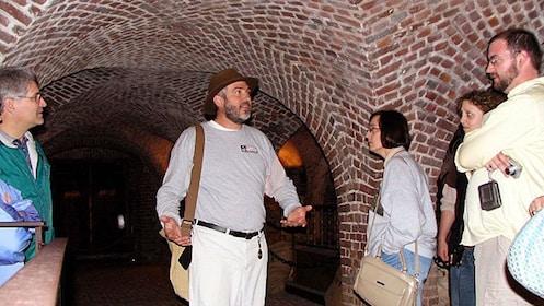 Tour group in an underground cellar in Charleston