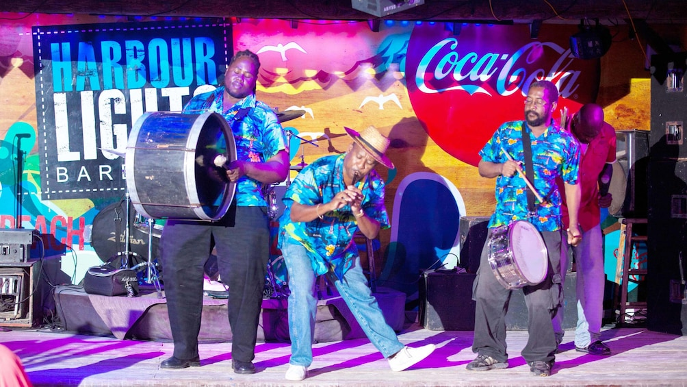 Show item 6 of 6. Musicians in Barbados