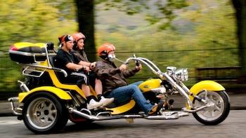 Tur på trehjulet motorcykel med chauffør