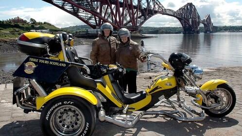 riders of motor tricycle in Edinburgh