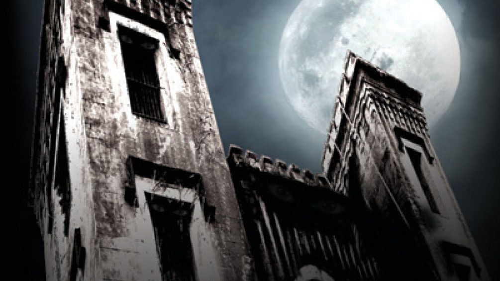The Haunted Old City Jail at night in Charleston