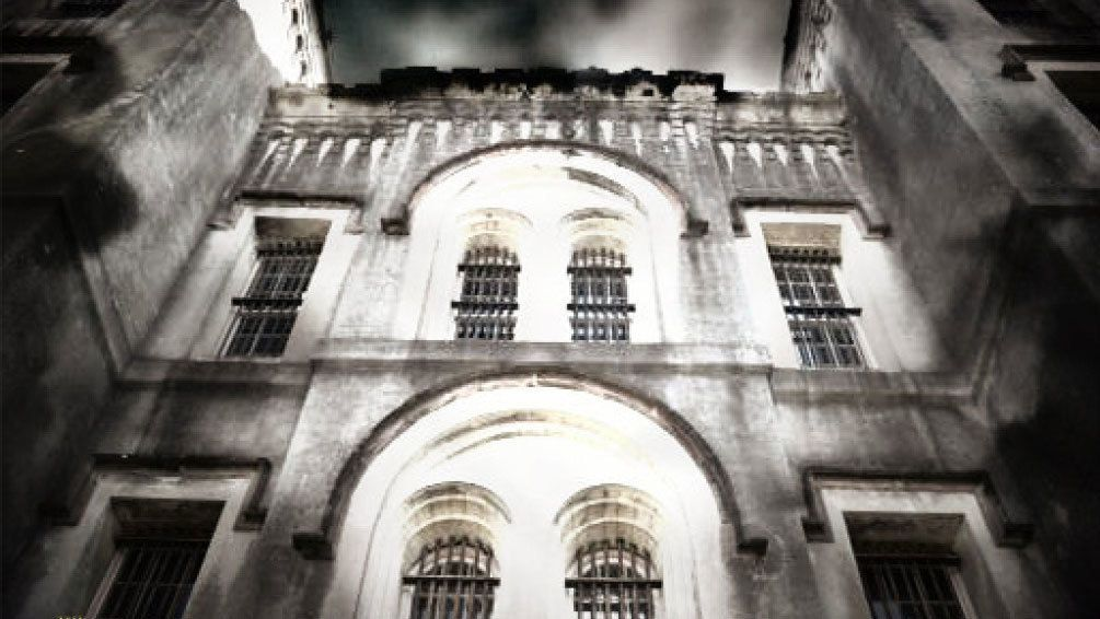 Exterior of The Haunted Old City Jail in Charleston