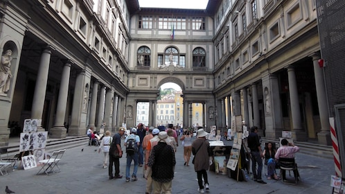 courtyard area on Accademia and Uffizi Guided Tour in Italy