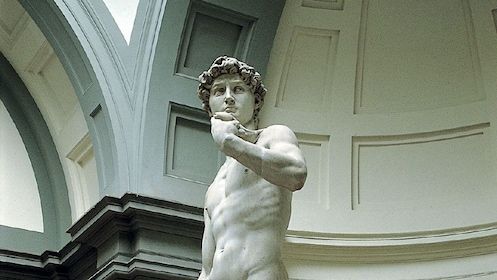 Statue on Accademia and Uffizi Guided Tour in Italy