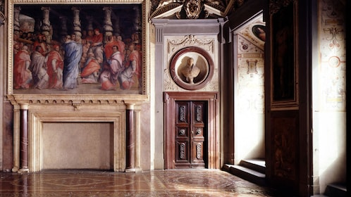 Art on Secret Passages of Palazzo Vecchio in Italy