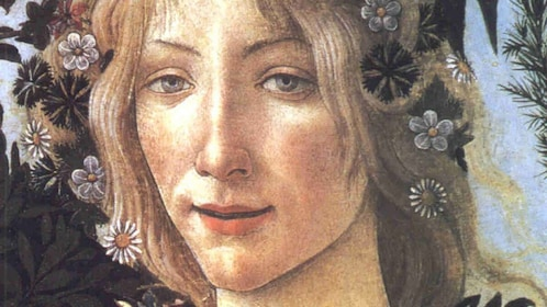Painting close-up at Uffizi Gallery Guided Tour in Florence Italy