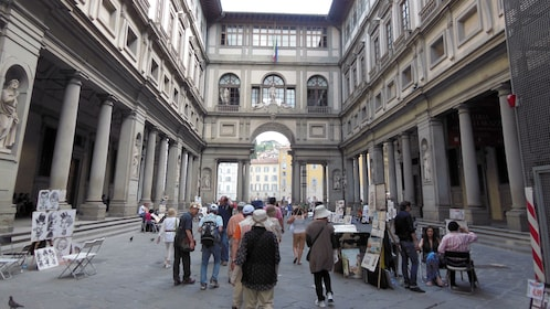 Interior area at Uffizi Gallery Guided Tour in Florence Italy
