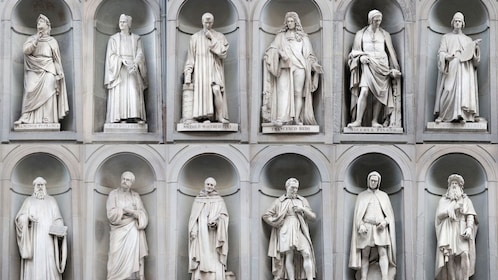 Statues at Uffizi Gallery Guided Tour in Florence Italy