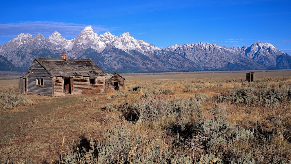 Show item 3 of 5. Mountain view of Grand Teton National Park in Jackson Hole