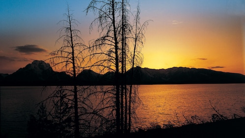 Beautiful sunset view at Grand Teton National Park