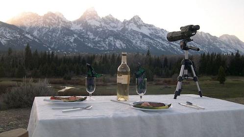 Sunset dinner in Grand Teton National Park