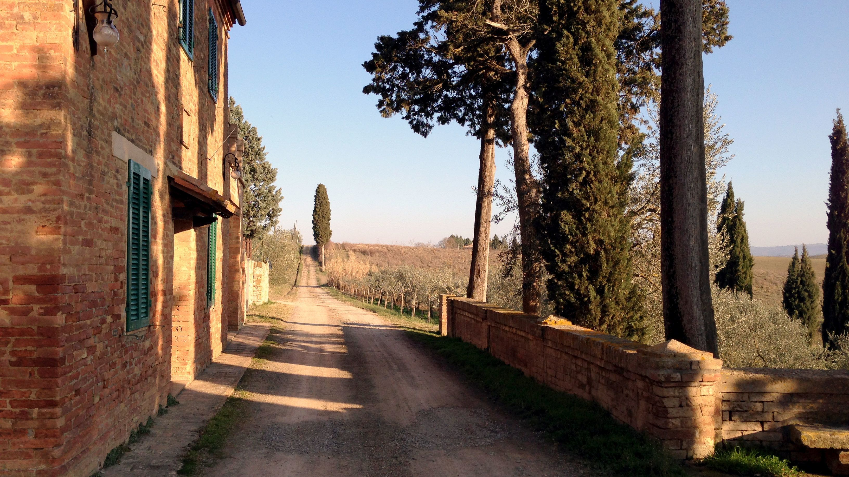 Town road on Tuscany Wine Tasting Tour in Italy