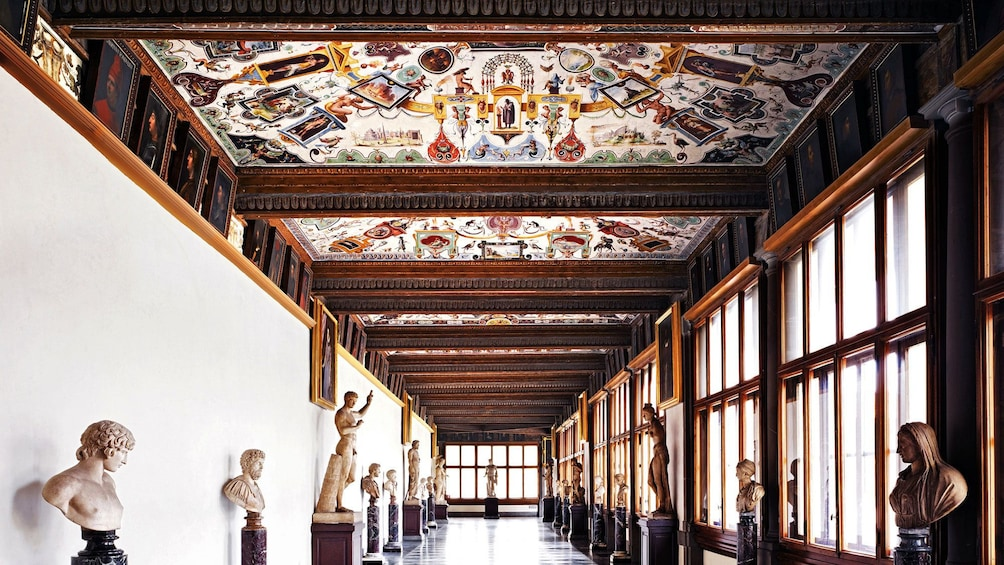 Show item 1 of 10. Interior on Uffizi Gallery tour in Florence Italy