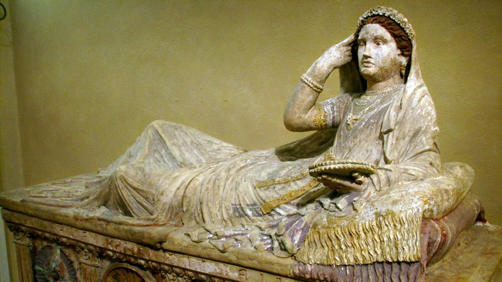 Statue at Archaeological Museum in Florence Italy