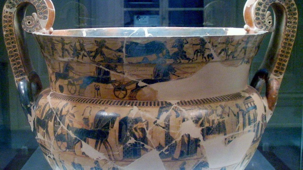 Pottery at Archaeological Museum in Florence Italy