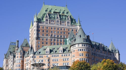 Chateau Frontenac dominates the Quebec City skyline